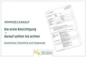 Die erste Besichtigung – darauf sollten Sie achten (kostenlose Checkliste zum Download)